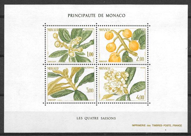 filatelia frutas Monaco 1985