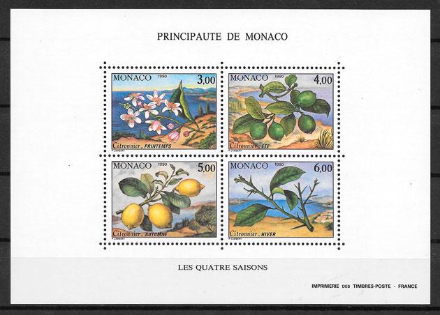 selos frutas Monaco 1990