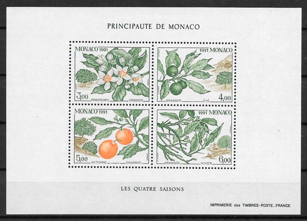 selos frutas Monaco 1991