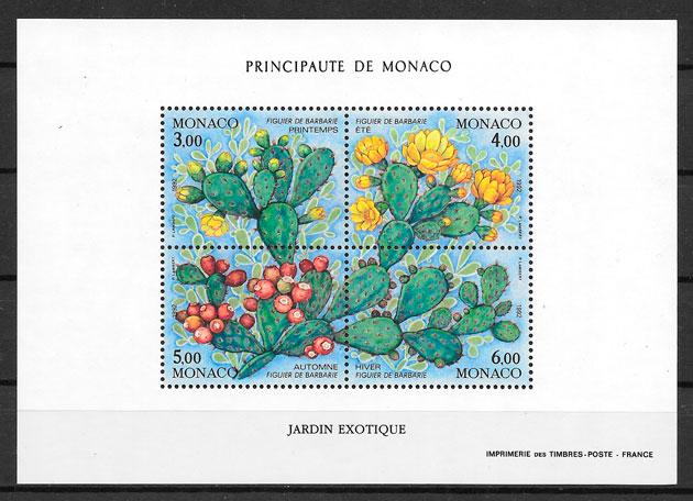 filatelia frutas Monaco 1991