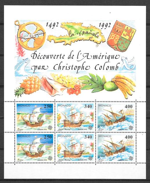 filatelia frutas Monaco 1992