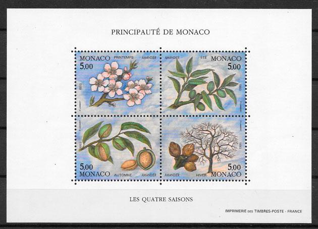 filatelia frutas Monaco 1993