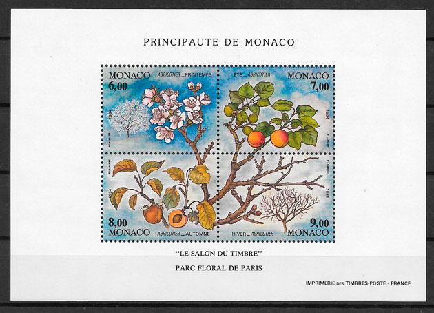 filatelia coleccion frutas Monaco 1994