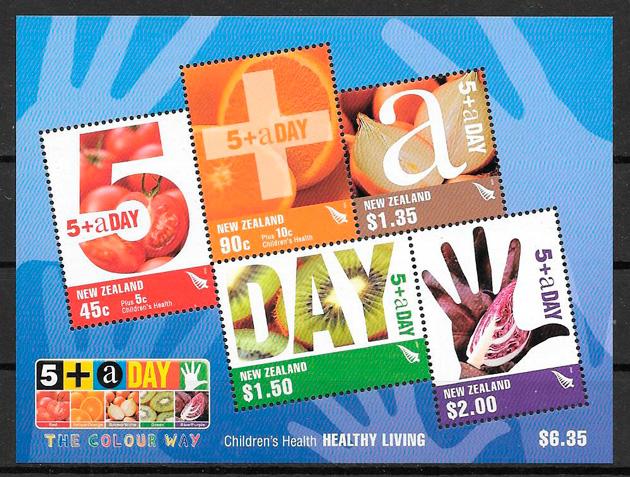 sellos frutas Nueva Zelanda 2006