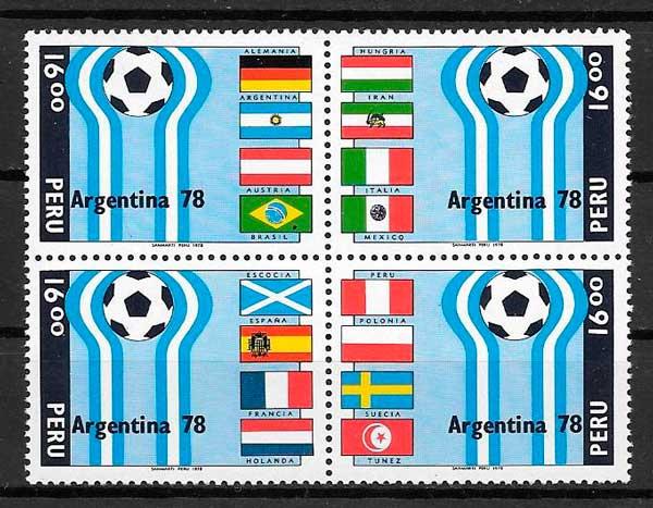 sellos fútbol Perú 1978