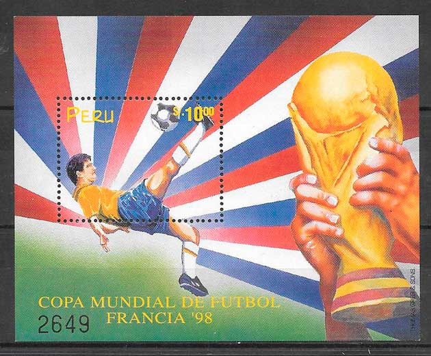 filatelia fútbol Perú 1994