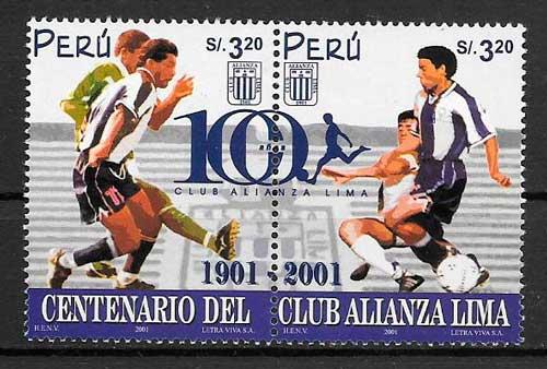 filatelia fútbol Perú 2001