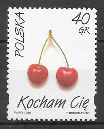 sellos frutas Polonia 1996