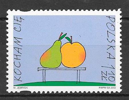 sellos frutas Polonia 2002