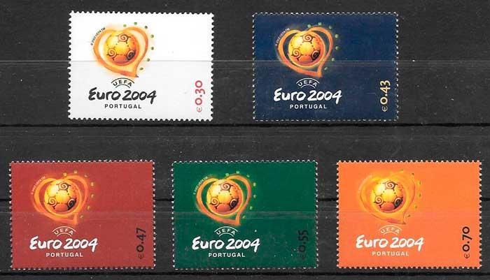 sellos fútbol Portugal 2003