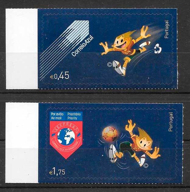 sellos fútbol Portugal 2004