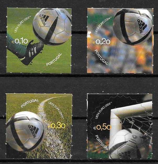 filatelia fútbol Portugal 2004