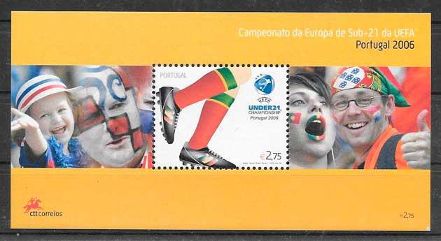 colección sellos fútbol Portugal 2006
