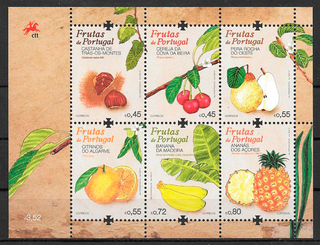 sellos frutas Portugal 2015
