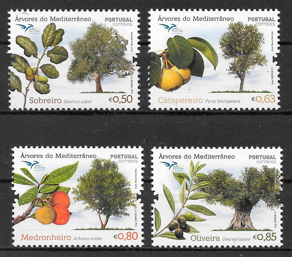 sellos frutas Portugal 2017