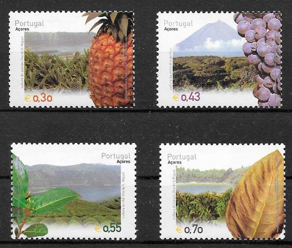 sellos frutas Portugal Azores