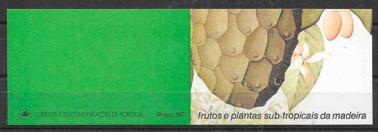 colección sellos frutas Portugal Madeira 1990