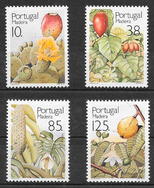 sellos frutas Portugal Madeira 1992
