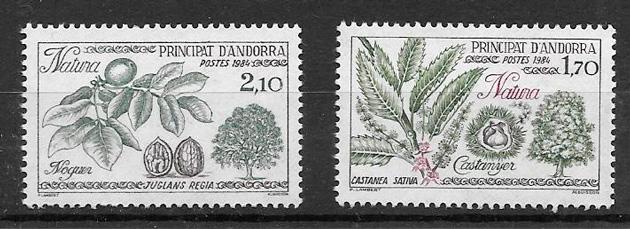 filatelia frutas Andorra Francesa 1984