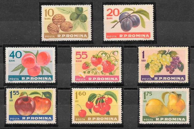 filatelia frutas Rumanía