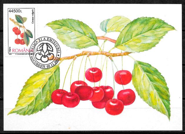 sellos frutas Rumanía 2002