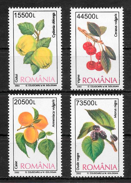 sellos frutas Rumania 2002
