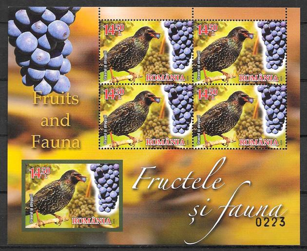 sellos frutas Rumanía 2014