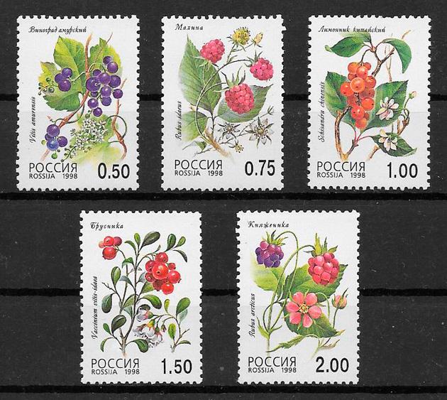 sellos frutas Rusia 1998