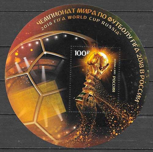 filatelia fútbol Rusia 2015