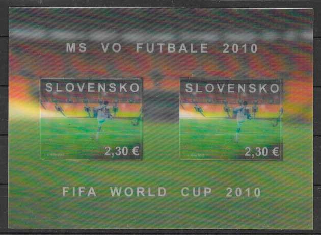 sellos fútbol Eslovaquia 2010