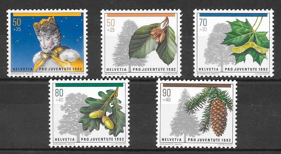 sellos frutas Suiza 1992