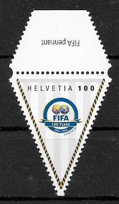 colección sellos fútbol Suiza 2003