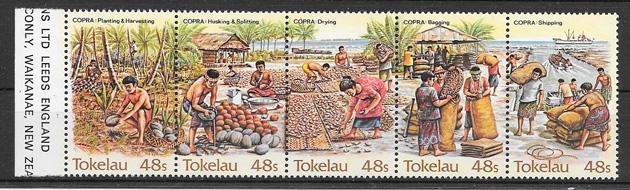 filatelia frutas Tokelau 1984