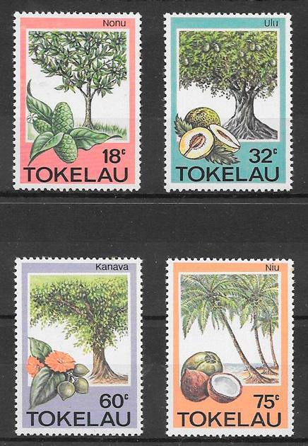 filatelia frutas Tokelau 1985