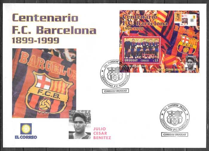 filatelia colección fútbol Uruguay 1992