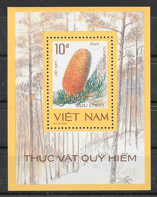 sellos frutas Viet Nam 1986