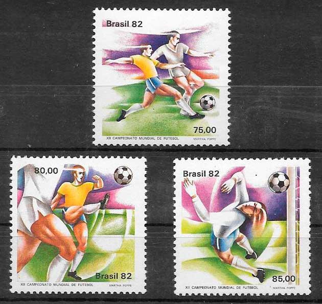 sellos fútbol Brasil 1982