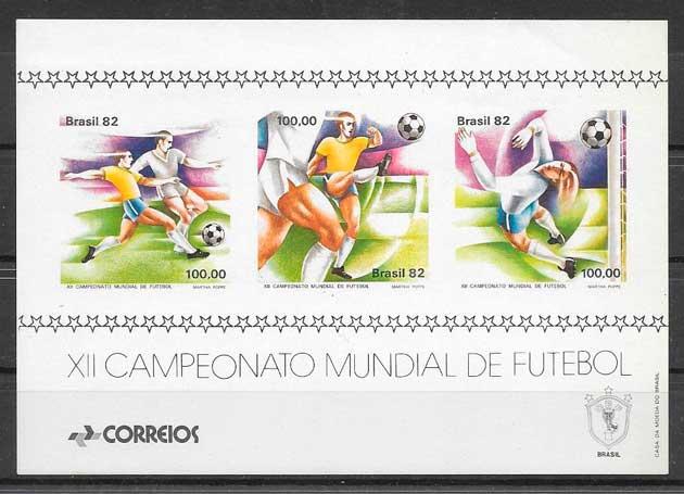filatelia fútbol Brasil 1982