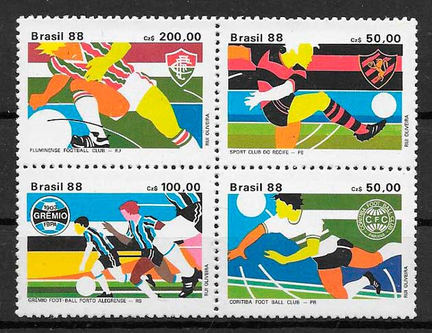 sellos fútbol Brasil 1988
