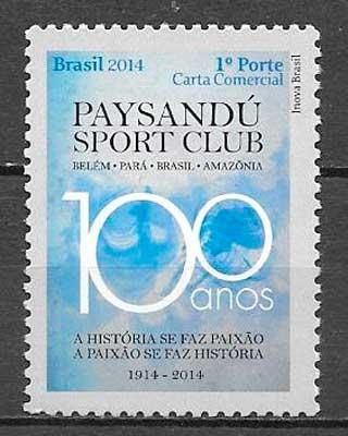 sello fútbol Brasil 2014