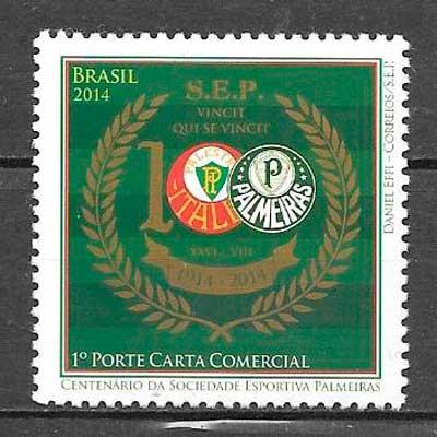 filatelia fútbol Brasil 2014