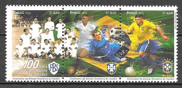 sellos fútbol Brasil 2014