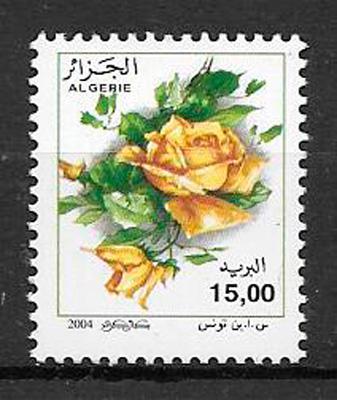 filatelia rosas Argelia 2004