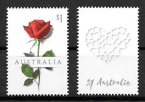 sellos rosas Australia 2017