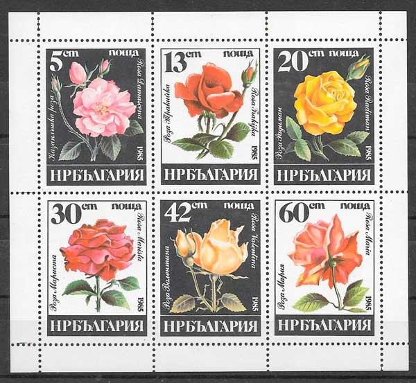 filatelia rosas Bulgaria 1983