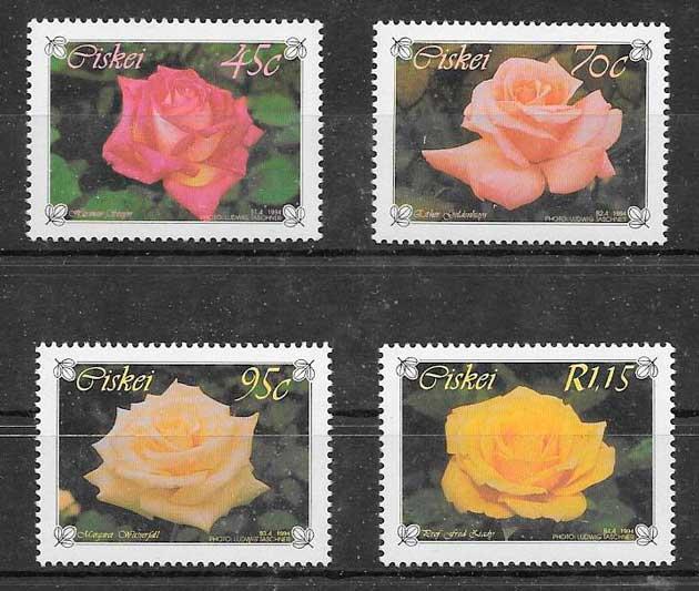 filatelia coleccion rosas Ciskei 1994