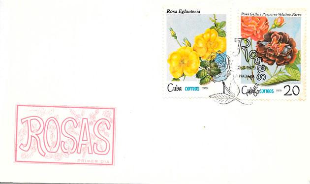 sellos rosas Cuba 1979