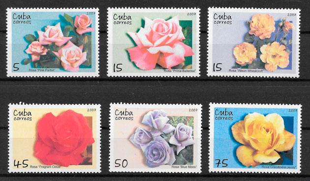sellos rosa Cuba 2007