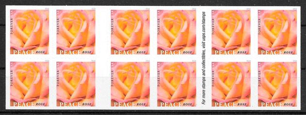 colección sellos rosas USA 2018