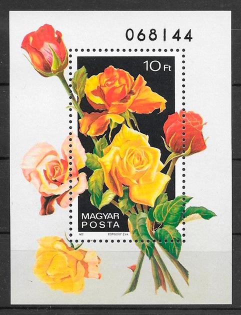 filatelia rosas Hungría 1982